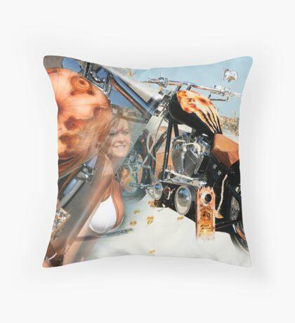 Custom Choppers Throw Pillow