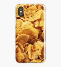 A close up of cornflake breakfast cereal iPhone Case/Skin