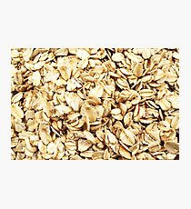 A close up image of whole grain oatmeal Photographic Print