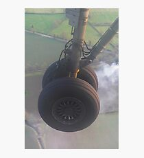 Wheels down Photographic Print