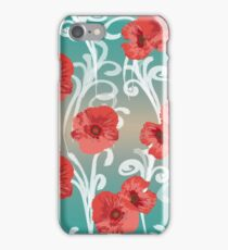 red fashion flowers iPhone Case/Skin