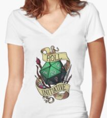 Roll Initiative Women's Fitted V-Neck T-Shirt