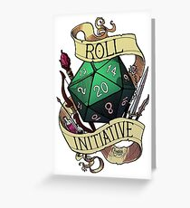 Roll Initiative Greeting Card