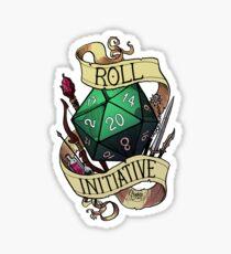 Roll Initiative Sticker