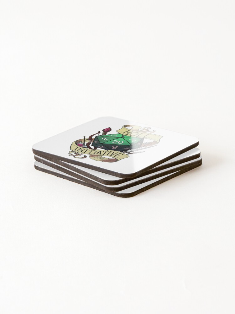 Alternate view of Roll Initiative Coasters (Set of 4)