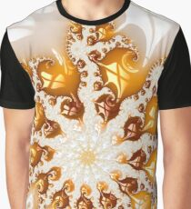 Luxe golden and white abstract fractal art Graphic T-Shirt