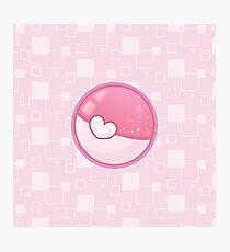 Glittery Pink Pokeball Photographic Print
