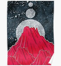 The Three Moons Over The Mountain Poster