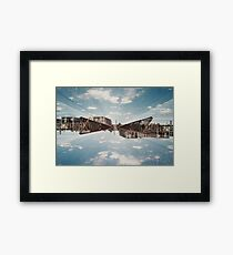 n°154: Double exposure at the station Framed Print