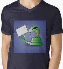 green snake Mens V-Neck T-Shirt