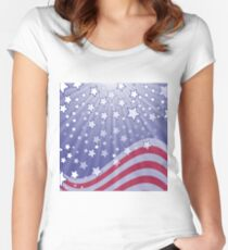 starry flag Women's Fitted Scoop T-Shirt