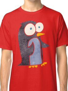 retro cartoon penguin Classic T-Shirt