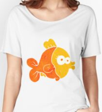 funny retro cartoon fish Women's Relaxed Fit T-Shirt
