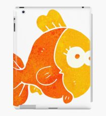 funny retro cartoon fish iPad Case/Skin