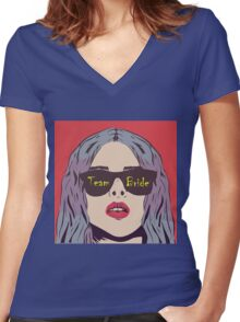 PopArt TeamBride Women's Fitted V-Neck T-Shirt