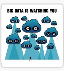 big data brother watching you Sticker