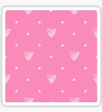 Pink heart seamless pattern. Simple seamless  wallpaper. Hand drawn background. Vector illustration. Sticker