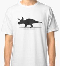 Triceratops dinosaur silhouette Classic T-Shirt