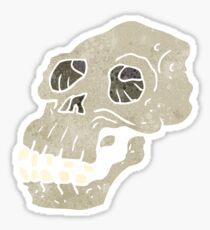 retro cartoon ancient skull Sticker