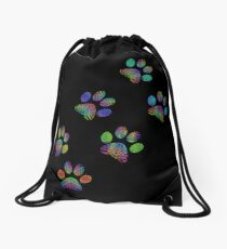 Paw prints. Drawstring Bag