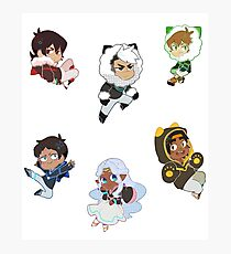 Voltron chibi set Photographic Print