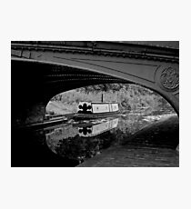 Boat on the Black Country Canal, Dudley, England Photographic Print