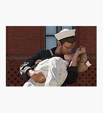 Key West Art - A Sailor's Kiss Close-Up ©  Photographic Print