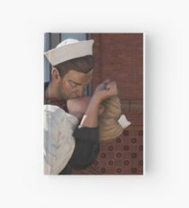 Key West Art - A Sailor's Kiss Close-Up ©  Hardcover Journal