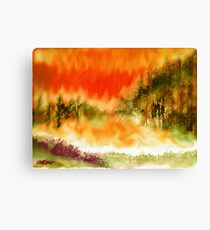 Timber Blaze Canvas Print