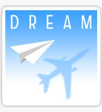 dream paper plane Sticker