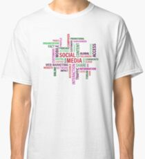Social Media, global, interaction, access, internet Classic T-Shirt