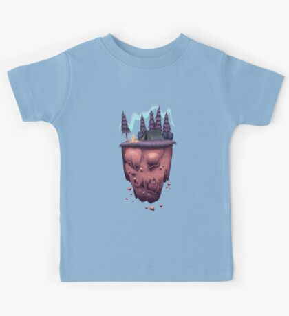 Floating Island with Aurora Borealis Kids Clothes