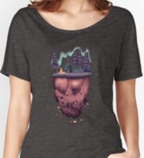 Floating Island with Aurora Borealis Women's Relaxed Fit T-Shirt