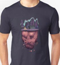 Floating Island with Aurora Borealis Unisex T-Shirt