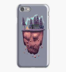 Floating Island with Aurora Borealis iPhone Case/Skin