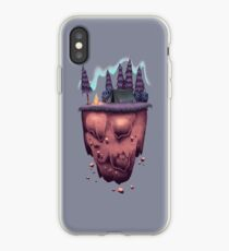 Floating Island with Aurora Borealis iPhone Case