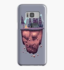 Floating Island with Aurora Borealis Samsung Galaxy Case/Skin