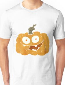 retro cartoon pumpkin Unisex T-Shirt