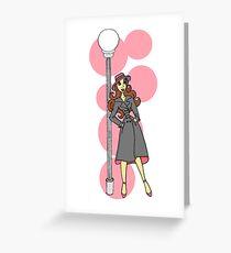 Lamppost Girl Greeting Card