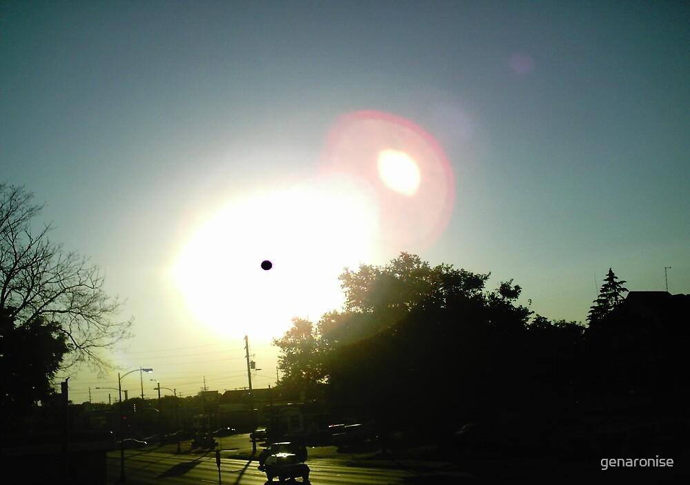 sun spot in town by genaronise