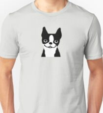 Boston Terrier Smiling Face T-Shirt