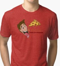 Pizza - cause it's awesome Tri-blend T-Shirt