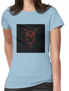 cycle front view, red on black Womens Fitted T-Shirt