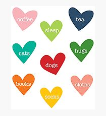 love hearts - colorful Photographic Print