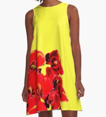 Sunshine Poppies A-Line Dress