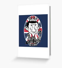 God save the king Bean Greeting Card