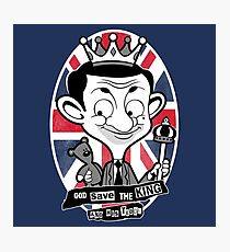 God save the king Bean Photographic Print