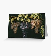 Fernandez El Labrador, Juan - Still Life With Four Bunches Of Grapes Greeting Card