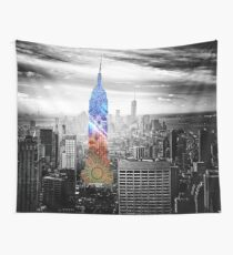 Funky Landmark - NY Wall Tapestry