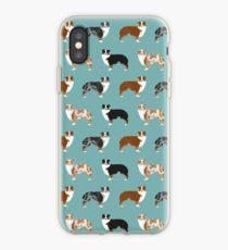 Australian Shepherd Besitzer Hunderasse niedlichen Hütehunde Aussie Hunde Tier Haustier Porträt Herzen von PetFriendly iPhone-Hülle & Cover